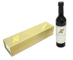 写真は吉田美和がブレンドしたデザートワイン「beauty & harmony」。20周年記念にふさわしいシンプルかつ豪華なラベルとパッケージにも注目だ。