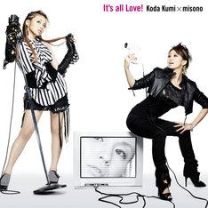 「It's all Love!」CD+DVD仕様ジャケット写真。姉妹がクールなファッションでキメたコラボショット。