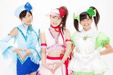 新生しゅごキャラエッグ!。メンバーは写真左から佐保明梨、譜久村聖、前田彩里。