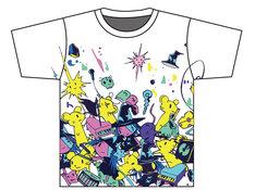 galaxxxyから発売されるコラボウェア「DEDEMOUSE×せかまほ×galaxxxyぬいぐるみTシャツ」。