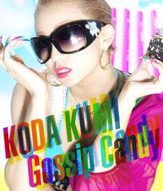 「Gossip Candy」CD+DVD仕様ジャケット。DVDには「Inside Fishbowl」「Outside Fishbowl」「Lollipop」3曲のビデオクリップが収録される。