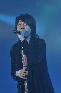 「おれパラ」メンバーのひとり、鈴村健一は7月7日にニューシングル「in my space」をリリースする(写真は昨年9月に開催された「ランティス祭り」より)。