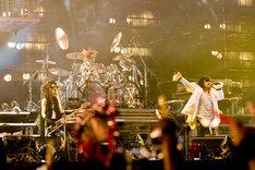 8月8日の「LOLLAPALOOZA 2010」に続き、本格的なライブを日本でも行ったX JAPAN。この秋には初のアメリカツアーを約10本ほど予定している。詳細はアメリカ時間8月16日に発表(写真は8月14日の公演より)。