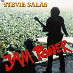 写真はスティーヴィー・サラスの最新アルバム「JAM POWER」ジャケット。