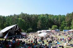 写真は昨年の「TAICOCLUB'10」の様子。ドラマ「モテキ」の野外フェスシーンはこの会場内で撮影された。