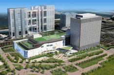 写真は複合施設「(仮)青海Q街区計画」イメージ。新Zepp Tokyo(仮)が入居する商業施設は、写真手前の白い低層建築物だ。