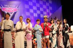 映画「カーズ2」ジャパンプレミアイベントの舞台挨拶の模様。
