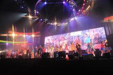 写真は「Animelo Summer Live 2011 -rainbow-」初日アンコールの様子。(C)Animelo Summer Live 2011/MAGES.