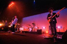最後のステージに立つRiddim Saunterの5人(Photo by tetsuya yamakawa)。