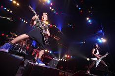 この日のライブでは最新アルバム「DAMN HERO」の曲を中心に、全27曲が披露された(撮影:マサノリ<LIVEPHOTOBANK>)。