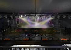 梅田CLUB QUATTRO完成予想図。客席最上段からステージを見たところ。