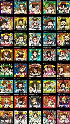 「ワクワク☆ラルク アン シール」全40種類の絵柄。