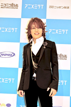 「アニメミライ」広報大使に任命され、気合の入った表情を見せる西川貴教。