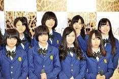 写真前列左から城恵理子、谷川愛梨、矢倉楓子、島田玲奈。後列左から小鷹狩佑香、高野祐衣、村瀬紗英、藤田留奈。