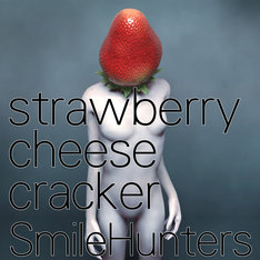 SmileHuntersのアルバム「strawberry cheese cracker」のジャケット。