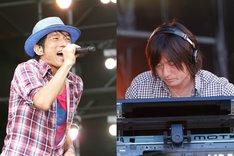 Bank Bandの櫻井和寿(写真左)と小林武史(右)。