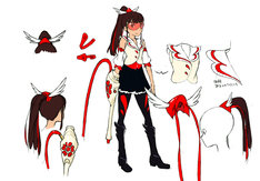 上のイラストは百田夏菜子の衣装原案。