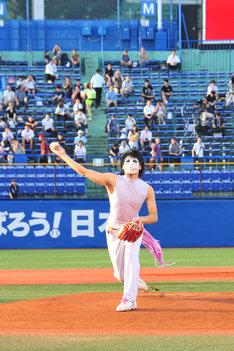 美しいフォームで時速142キロの豪速球を投げた樽美酒研二。