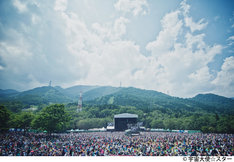 「FUJI ROCK FESTIVAL '12」GREEN STAGEの様子。