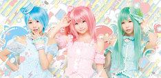 CDデビューが決定したパナシェ!の3人(写真左からくろねこ、えなこ、五木昶)。