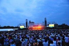 「京都音楽博覧会 2012 in 梅小路公園」会場の模様。