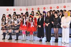 写真は本日の出場歌手発表会見に登壇した出場者の一部。