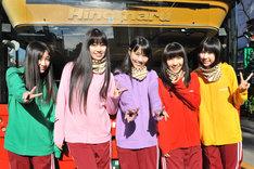 番組終了後の記念撮影では高城れにが中央を陣取り、百田夏菜子(写真右から2番目)からの「センター変更」を主張。