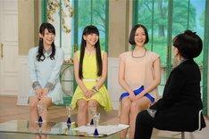 Perfumeが出演した「徹子の部屋」のワンシーン。 (c)テレビ朝日