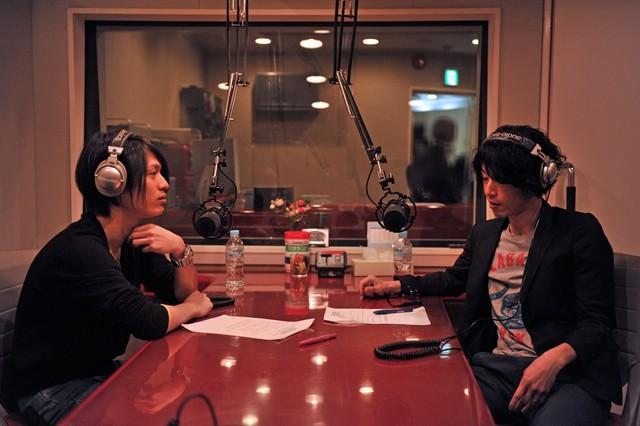 光村龍哉(左)と田中和将(右)。
