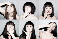 BiSの新たなアーティスト写真。新メンバーは下段左からテンテンコ、ファーストサマーウイカ、カミヤサキ。