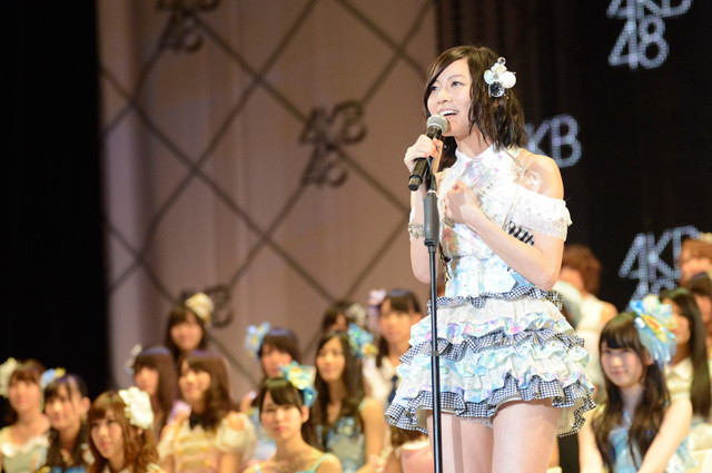 総選挙6位を獲得したSKE48/AKB48松井珠理奈。(c)AKS