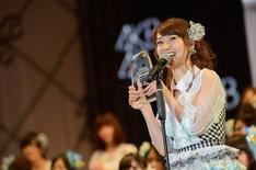 総選挙2位を獲得したAKB48大島優子。(c)AKS
