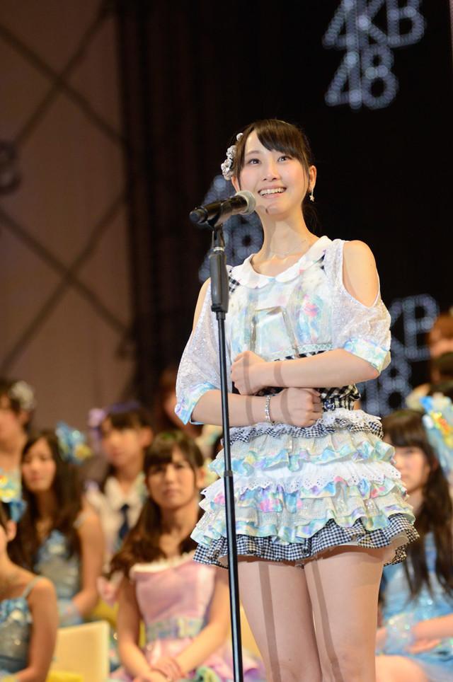 総選挙7位を獲得したSKE48松井玲奈。(c)AKS