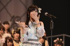 総選挙1位を獲得したHKT48指原莉乃。(c)AKS