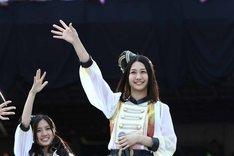 シングル初選抜の古畑奈和。(c)AKS