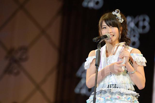 総選挙13位を獲得したAKB48横山由依。(c)AKS