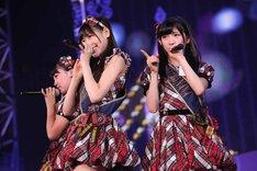 AKB48研究生の小嶋真子、西野未姫、岡田奈々。(c)AKS
