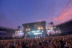 BUMP OF CHICKENが8月9日に千葉・QVCマリンフィールドで行ったスタジアムライブの模様。(撮影:古渓一道)