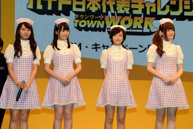 左から桜井玲香、生田絵梨花、生駒里奈、松村沙友理。