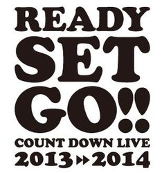 「『Ready Set Go!!』Count Down Live2013 ⇒ 2014 supported by A-Sketch」ロゴ