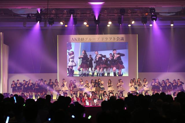 「AKB48グループ ドラフト会議」の様子。 (c)AKS