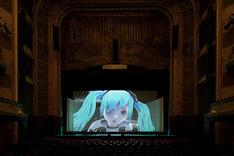 渋谷慶一郎+初音ミク「THE END」パリ公演の様子。(Photo by KENSHU SHINTSUBO / Theatre du Chatelet )(illustration & direction by YKBX) (c)Crypton Future Media, INC. www.piapro.net (c)LOUIS VUITTON