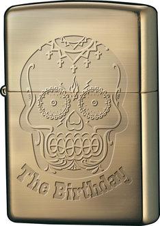 スカルロゴデザインのThe BirthdayオリジナルZippoライター。