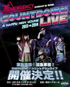 「EMERGENCY COUNTDOWN LIVE - A HAPPY NEW YOUNG 2013 → 2014 -」フライヤー