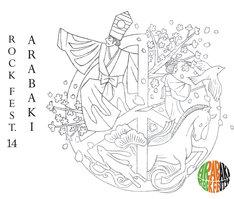 「ARABAKI ROCK FEST.14」ロゴ