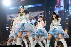 """「未来とは?」を""""逆回転""""で初披露するSKE48。 (c)AKS"""