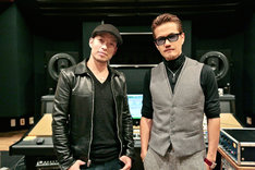 新曲3曲をレコーディングした清木場俊介とEXILE ATSUSHI。
