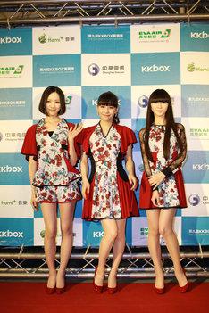 「第9回 KKBOX MUSIC AWARDS」会見でのPerfume。