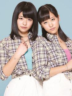 ODATOMO。左から金澤朋子(Juice=Juice)、小田さくら(モーニング娘。'14)。