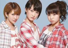 トリプレット。左から岡井千聖(℃-ute)、工藤遥(モーニング娘。'14)、高木紗友希(Juice=Juice)。